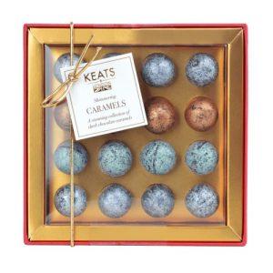 Keats Shimmering Dark Chocolate Truffles Mini Gift Box 104g - Keats Shimmering Dark Chocolate Truffles GIft Box 1 500x500