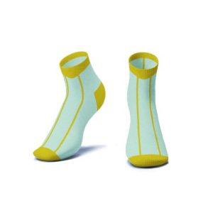 Mustard Stripe Ankle Socks - Kids - MUSTARD STRIPE ANKLE SOCKS 3D 500x500
