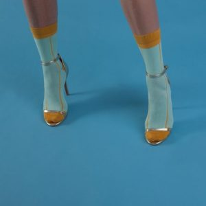 Mustard Stripe Ankle Socks – Adult