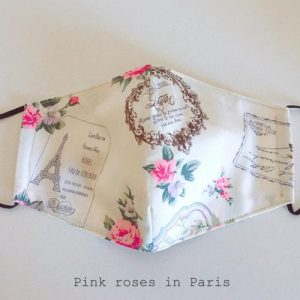 Face covering/ Face Mask 100% Cotton Reusable with filter pocket. Handmade in England
