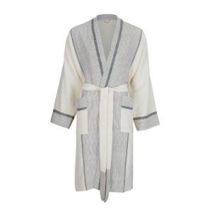 Mete Lounge Gown – Black & Salt