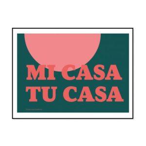 MI CASA TU CASA - Typographic Giclee Print - MiCasa green 500x500