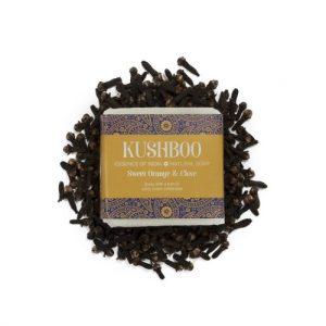 Kushboo Sweet Orange & Clove soap