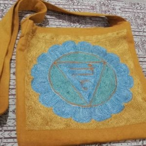 Rainbow Chakra Design Shoulder Bag Magic Throat