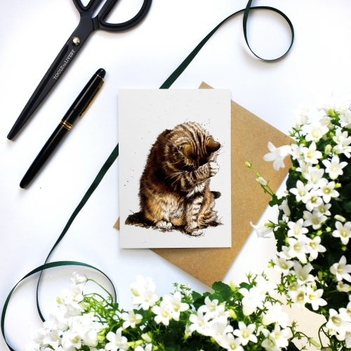Small Fry The Cat Card