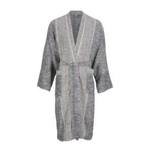 Shantung Lounge Gown – Ash