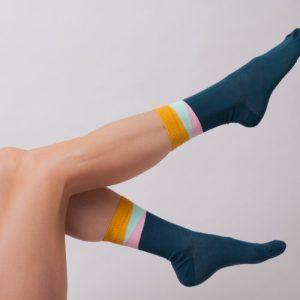 Legion Blue Geom Ankle Socks – Adult