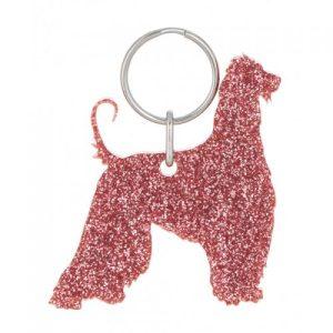 Glitter Acrylic Afghan Hound Style 4 Keyring