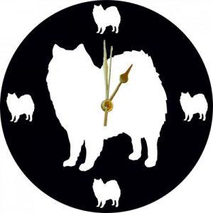 Cut Out Animal Clock – American Eskimo