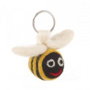 Handmade Needle Felted Bee Keyring