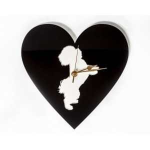 Cut Out Animal Clock – Bischon Frise Style 2
