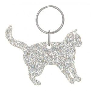 Glitter Acrylic Cat Style 2 Keyring