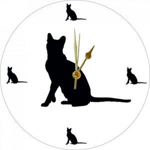 Cut Out Animal Clock – Havana Brown Style 1