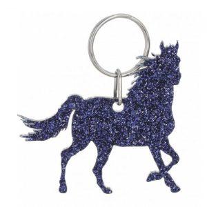 Glitter Acrylic Horse Keyring