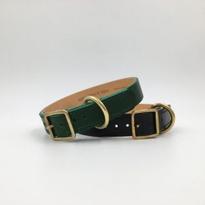 ARTISAN LEATHER LINED COLLAR - 4 COLOURS - seldomfound artcol blkgreen 500x500