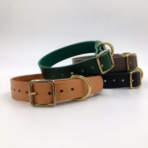 ARTISAN PUPPY/SML BREED LEATHER COLLAR – 4 COLOURS
