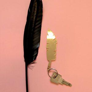 Keychain feather