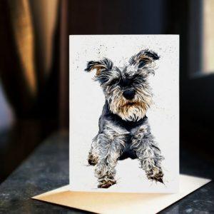 Ollie The Schnauzer Card
