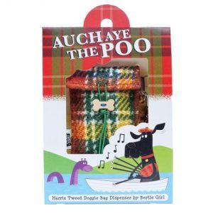 Auch Aye the Poo Doggie Bag – Orange Tartan