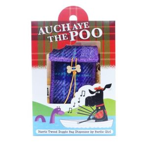 Auch Aye the Poo Doggie Bag - Purple Tartan - 1 AATP purple check adjusted 2 square for web better at 2000p 500x500