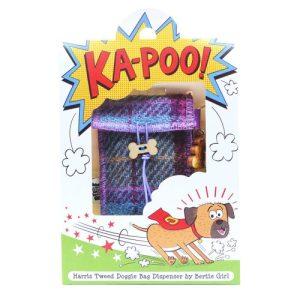 Ka-Poo Doggie Bag - Teal & Pink Check Tartan - 1 KP teal and pink check adjusted square for web brighter 500x500