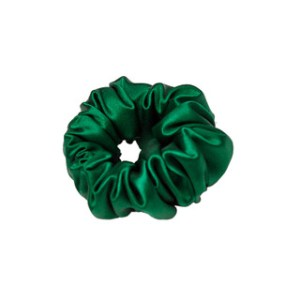 TEYA SILK SCRUNCHIE TRISH GREEN