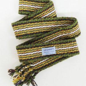 Christy Crios – Irish Belt / Handfasting Braid 96″ + Plaits – Yellow Green and Grey