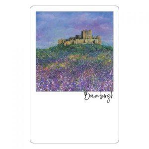 Bamburgh Castle Flowers Magnet