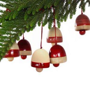 Ethiqana Wooden Bells – Set of 6 Red