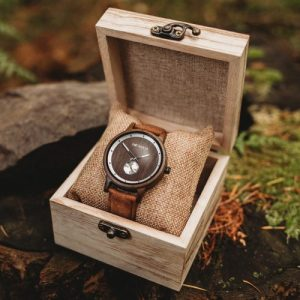 Botanica Watches | Olive | Sandal Wood Face with Vegan Tan Strap