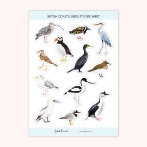British Coastal Birds Stickers