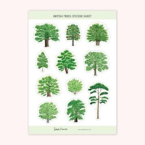 British Trees Stickers