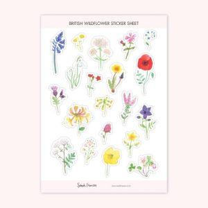 British Wildflowers Stickers