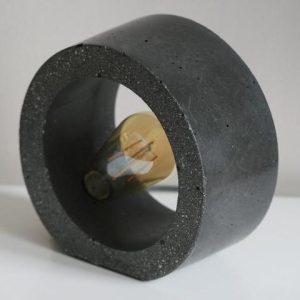 CONCRETE ORB TABLE LAMP | CONCRETE LIGHT, Dark Grey - CONCRETE ORB TABLE LAMP dark grey 500x480