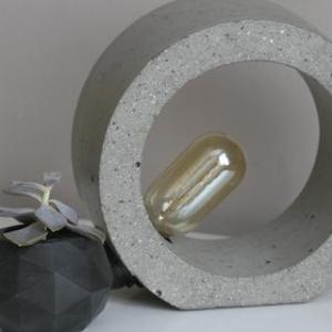 CONCRETE ORB TABLE LAMP | CONCRETE LIGHT, Grey - CONCRETE ORB TABLE LAMP grey