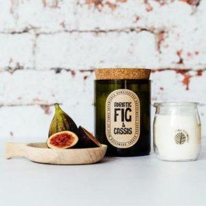 Panda Botanicals Wine Bottle Candle Adriatic Fig & Cassis