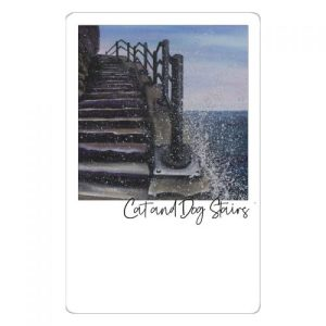 Cat and Dog Stairs Magnet