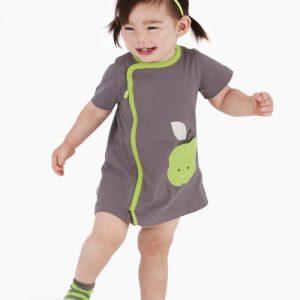 zip-up apple pocket dress