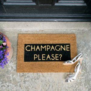 Champagne Glitter Doormat