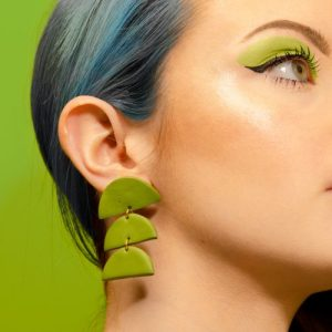 Forest Green Semi Circle Dangles - Greenmakeup 5291 Low Res 500x500