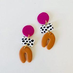 Dotty Shape Earring Pink - IMG 1999 500x500