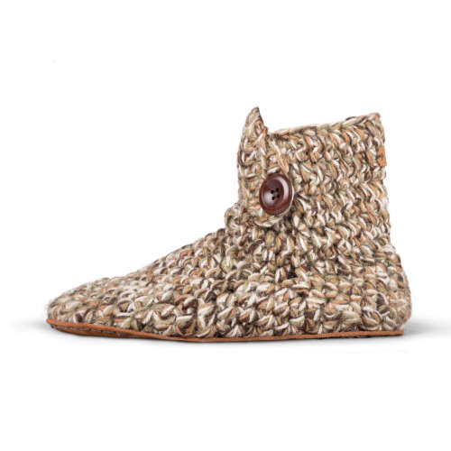 Camo Wool High Top Slippers_side_Kingdom of Wow!