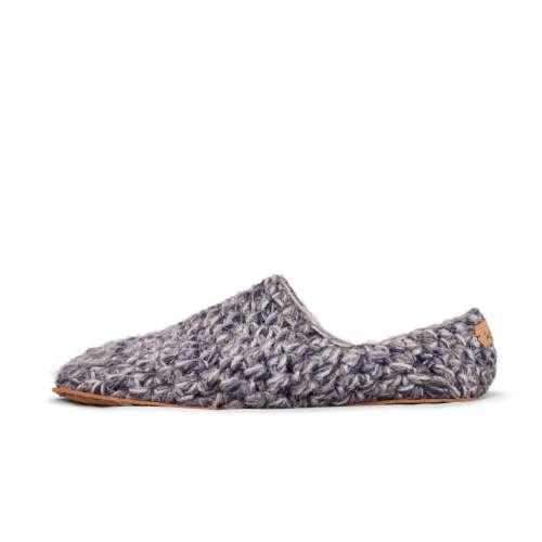 Stone Grey Wool Low Top Slippers_side_Kingdom of Wow!