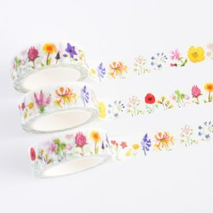 British Wildflowers Washi Tape