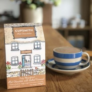 Cupsmith Truly Magnificent Hot Chocolate with Salted Caramel, 240g, 8 units - Salted caramel hot choc box 1 square crop 500x500