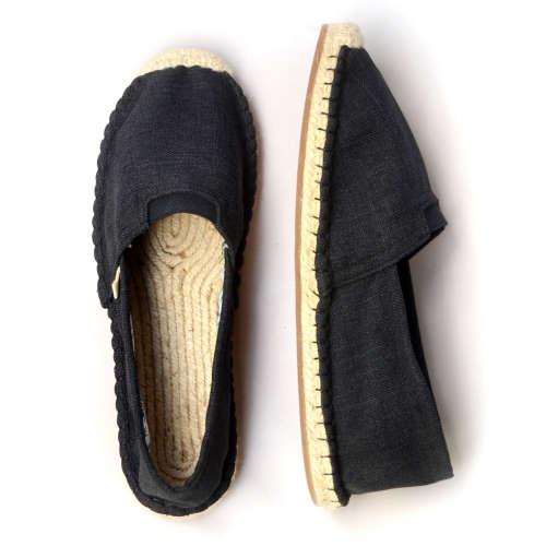 Soft Black_top_espadrille shoes_Kingdom of Wow!