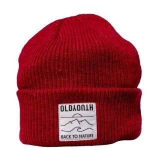 Merino Wool Beanie – Garnet Red