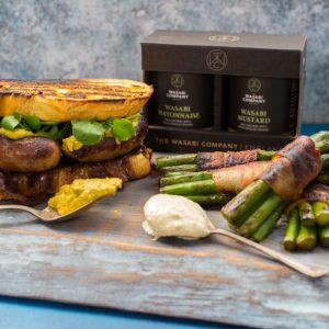 The Wasabi Company Wasabi Mayo and wasabi Mustard 24 Twin Pack - Wasabi twin pack styled asparagus sandwich 500x500