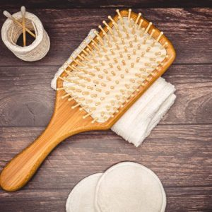 Luxury Wooden Hairbrush with Wooden Bristles