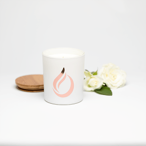 Aromatherapy 'Bloom' White Soy Candle, large